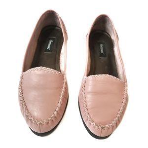 Ellemenno | Vintage Pink Leather Loafers